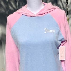 Juicy Couture Color Block Logo Pullover, New